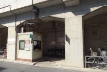 14:51 甲子園駅近くのレンタサイクルの窓口