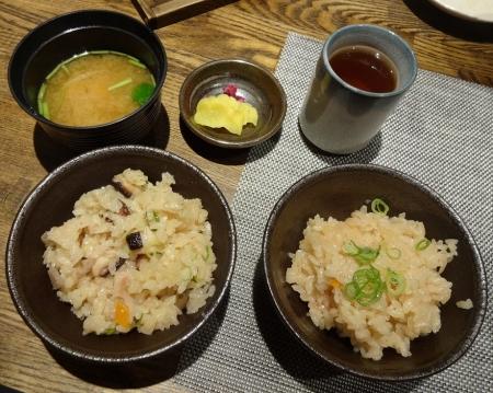 明石蛸と根菜の釜飯