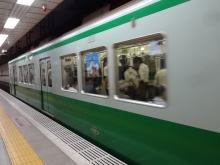 13:29 地下鉄三宮駅にて