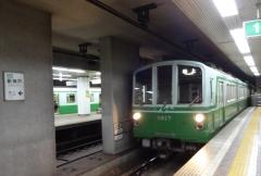 13:55 北神急行 新神戸駅にて。谷上へ向かいます。