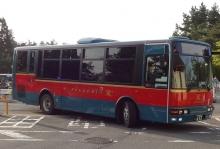 17:35 六甲ガーデンテラス バス停で。