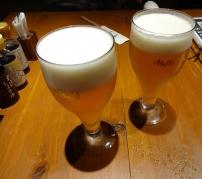 20:42 生ビール 中 (アサヒスーパードライ) 580円×2
