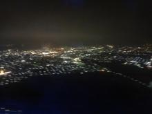 20:57 もう少しで新千歳空港