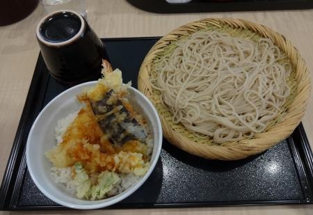 夫 ~ 味定天丼(冷そばで) 609円