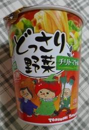 どっさり野菜 チリトマト味ラーメン 62円