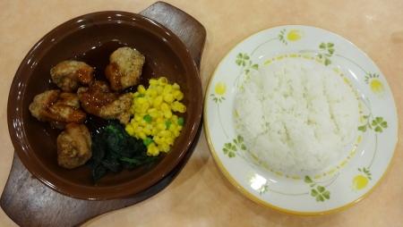 鶏肉のオーブン焼き(バルサミコ甘酢ソース) ・ライス