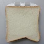 型枠の上にパンをのせます。