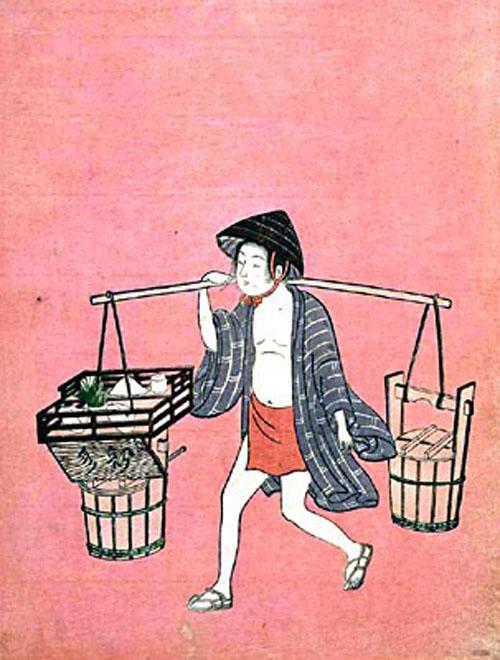 鈴木春信《水売り》