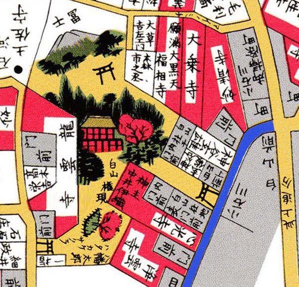 白山神社 切り絵図