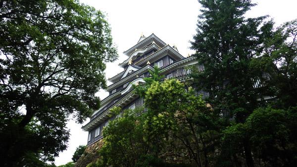 後楽園の方から見た岡山城