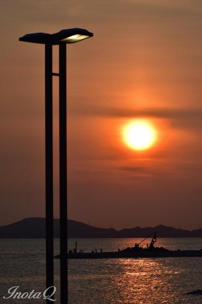 焼野の夕日01