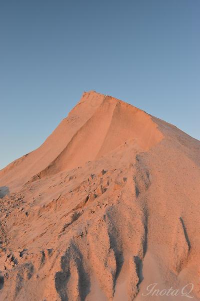 夕日に染まる砂山_0031