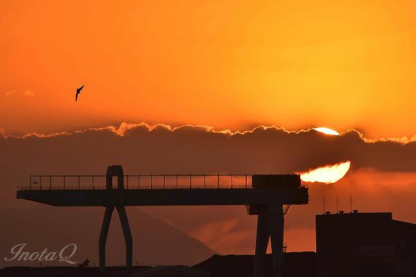 港の夕日_0038