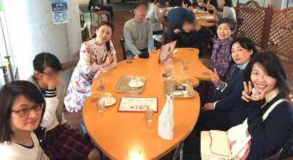 九州 久留米 講座前 カフェにて