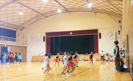 2016 8 19 体育館 練習