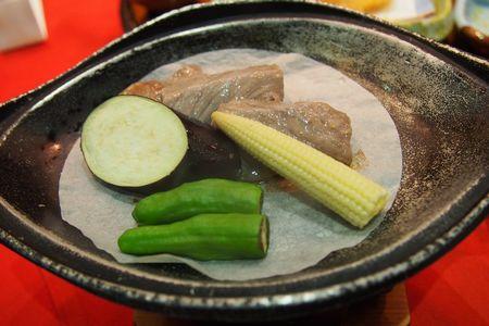 熊野牛の陶板焼き