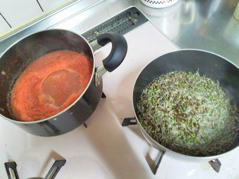 トマトとチリメン山椒