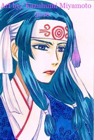 「龍龍」の主人公母。一目見て「和」を感じるよう心がけました。