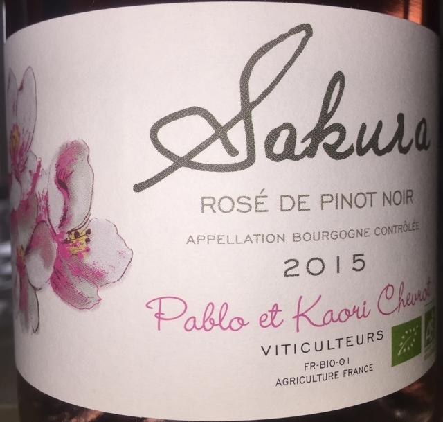 Sakura Rose de Pinot Noir Domaine Chevrot 2015