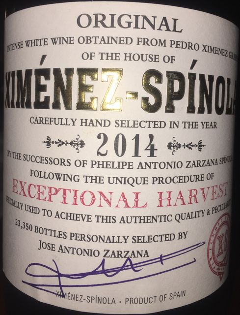Ximenez Spinola Exceptional Harvest 2014