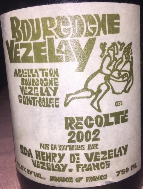 Bourgogne Vezelay SCA Henry 2002