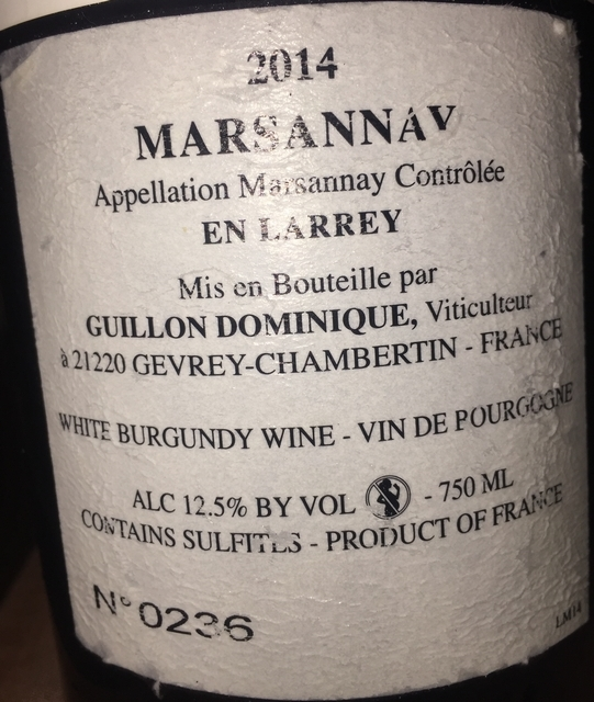 Dom Marsanney Blanc Guillon Dominique 2014