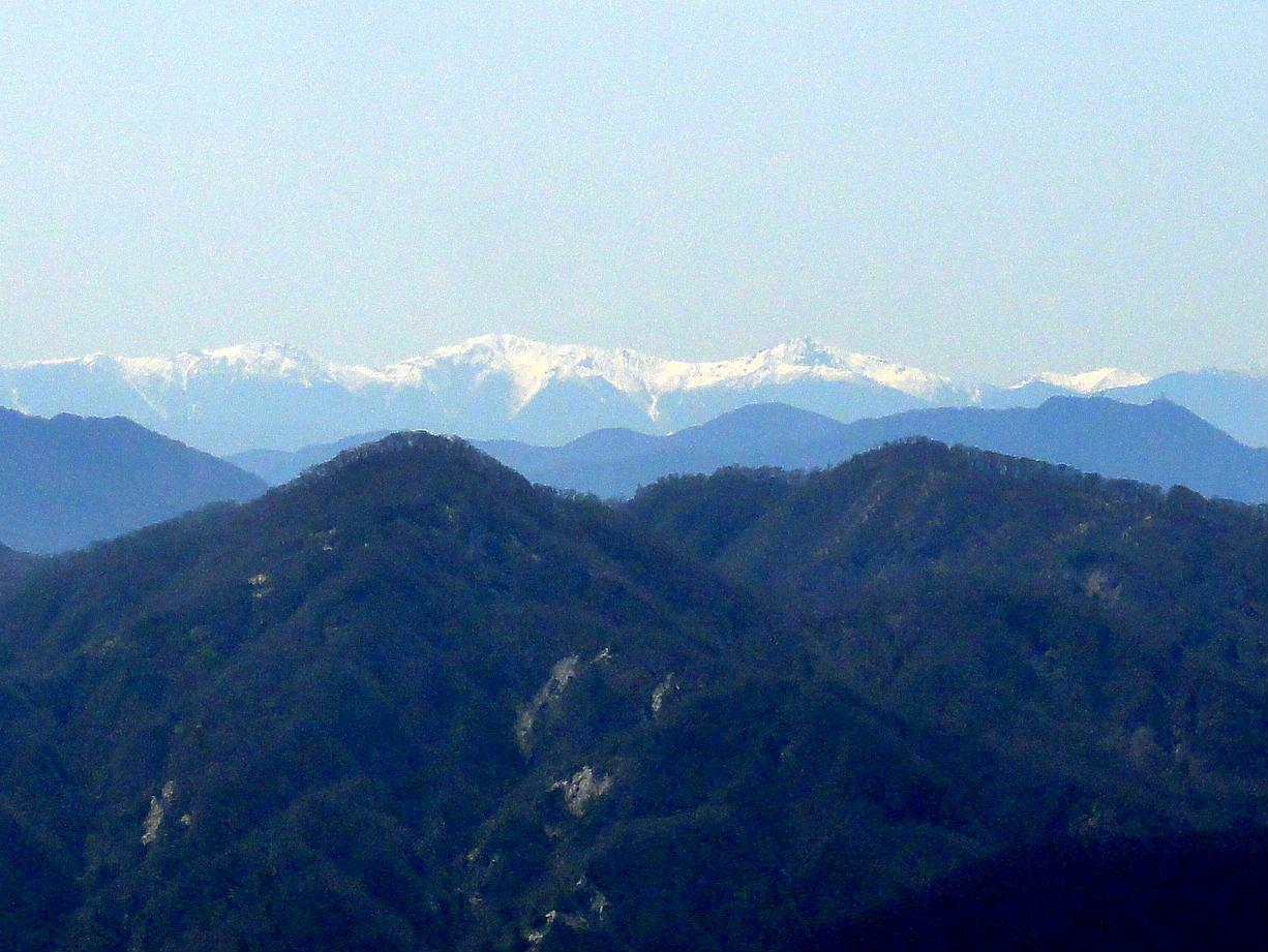 塔ノ岳からの南アルプス
