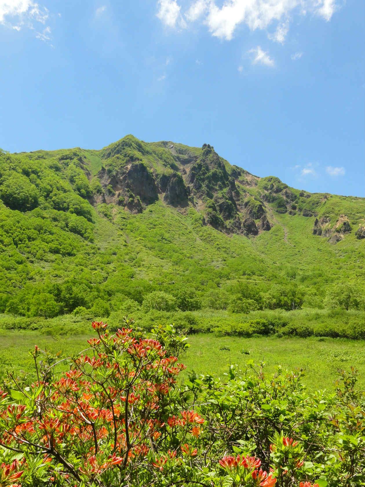 沼ノ平からみる磐梯山山頂