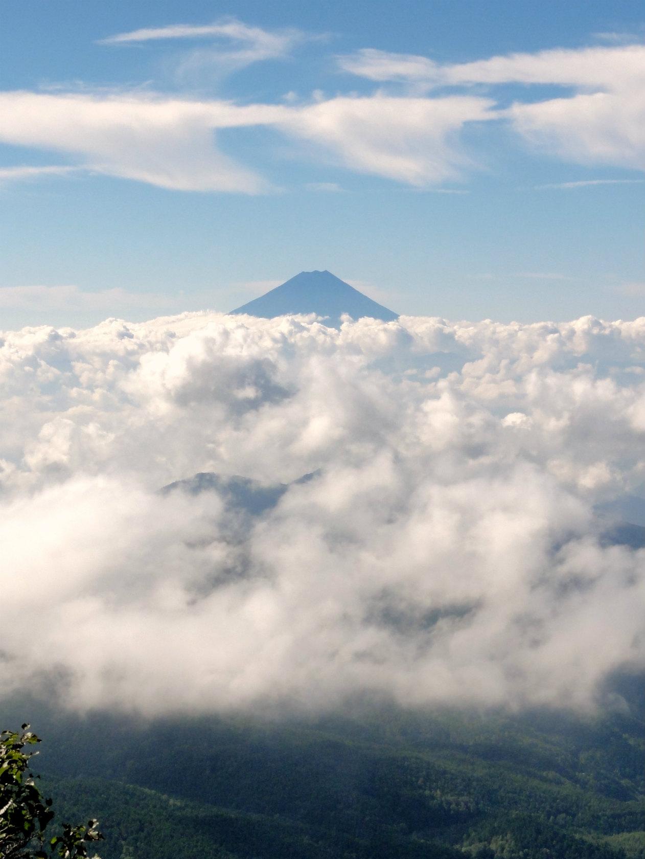 朝日岳からの富士山