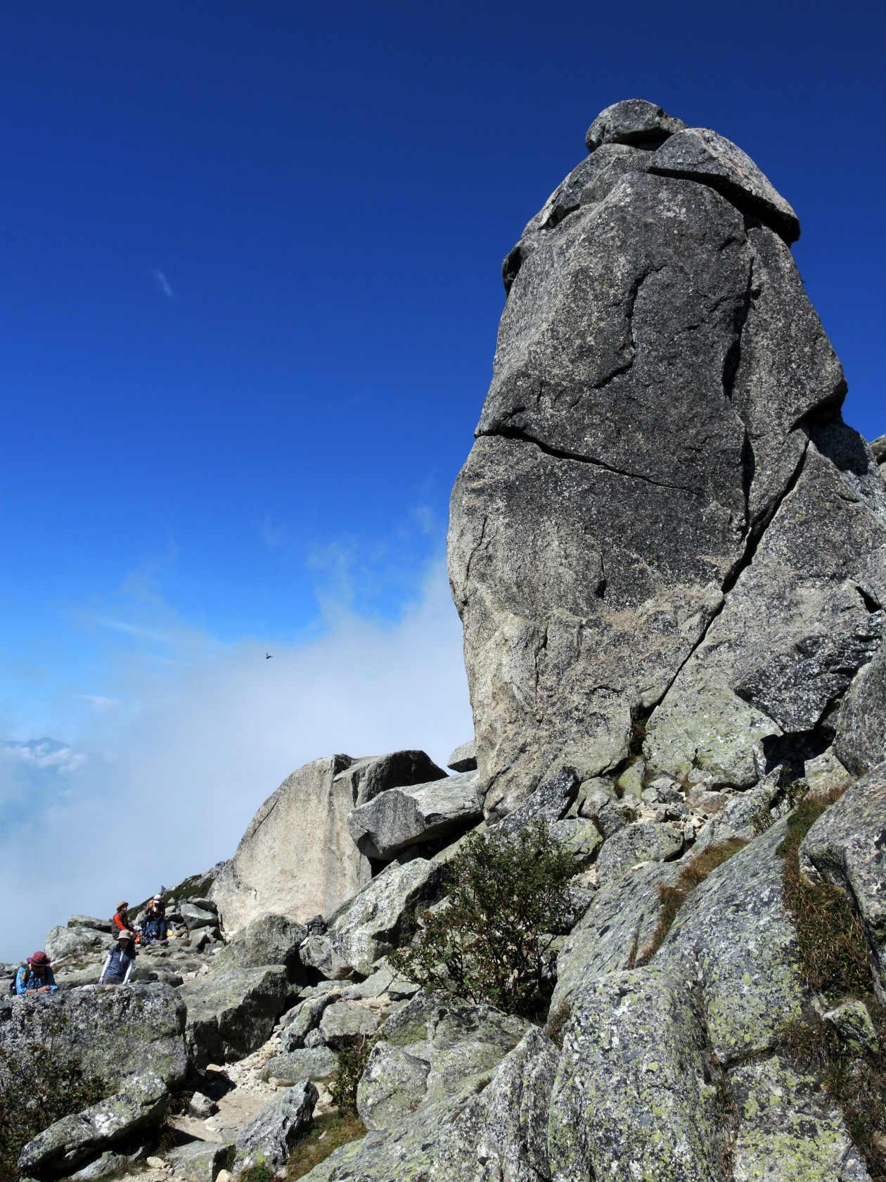 五丈岩の南面