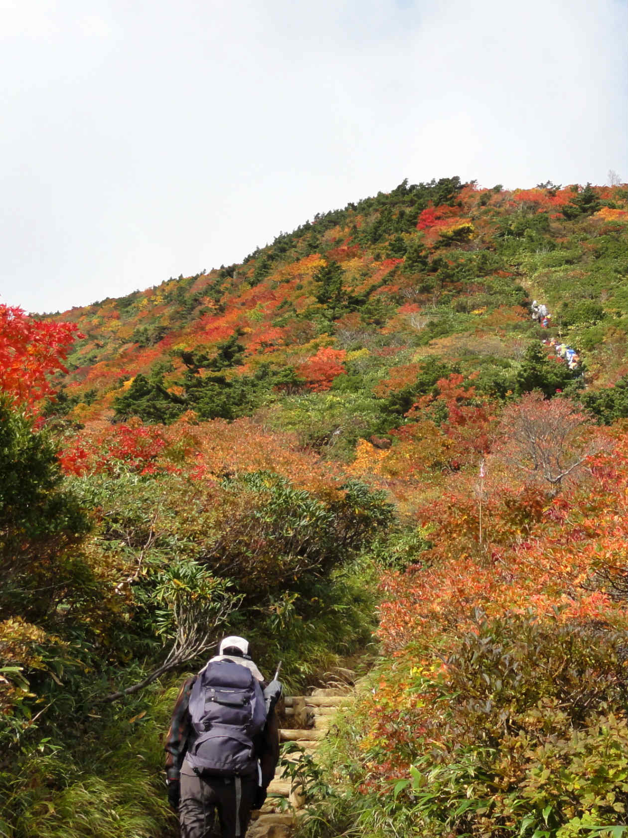 安達太良山山頂手前の登山道