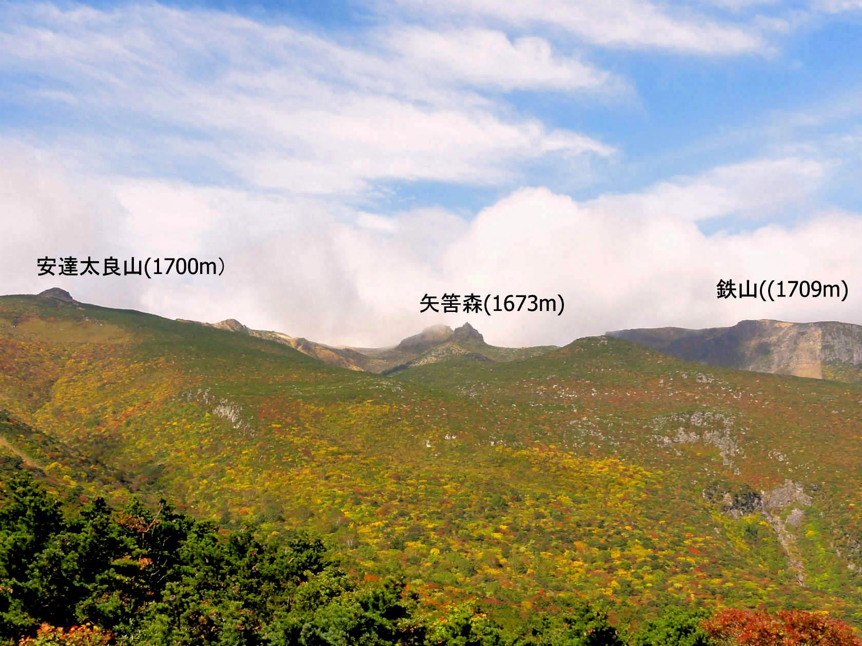 1-薬師岳山頂より