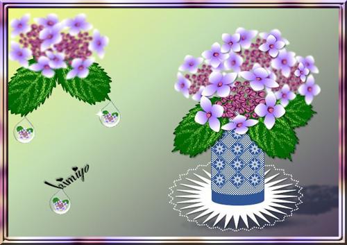 8-4紫陽花と水滴a