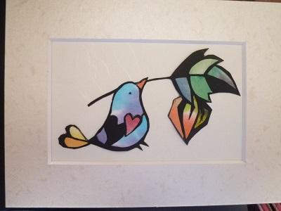 鳥さんとホオズキ