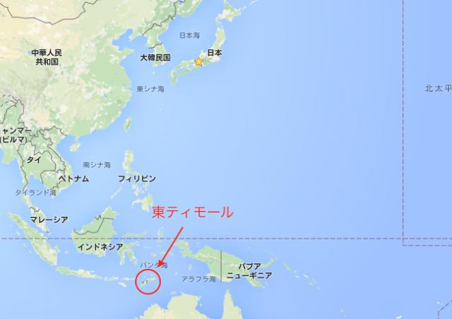 東ティモール地図1
