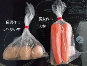 長男&長女 野菜工作