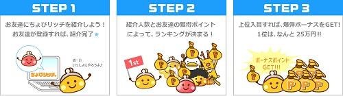 ちょびリッチ_友達紹介_爆弾ランキング01