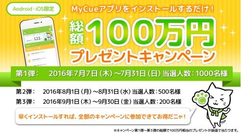キューモニター_100万円プレゼントキャンペーン