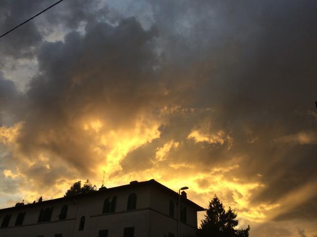 tramonto dopo pioggia