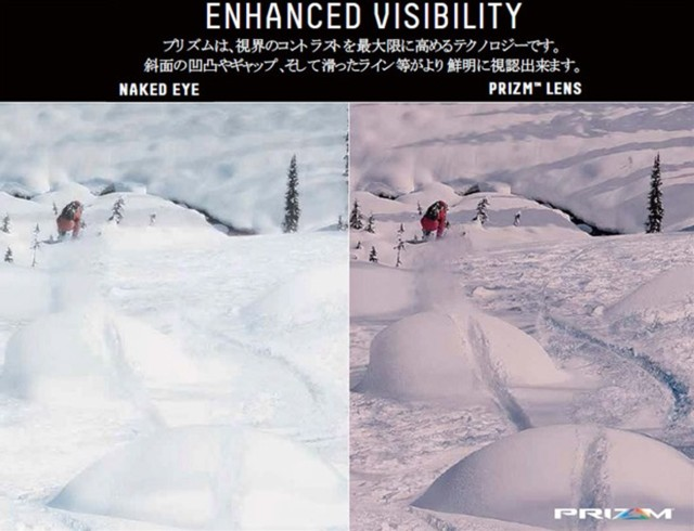 1月24日 裸眼とPrizmレンズの比較画像