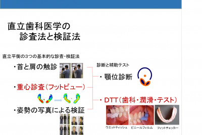 直立歯科医学の診査法と検証法