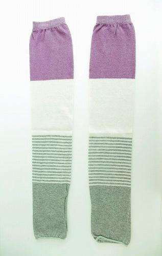 s-指とおしアームカバー 灰紫