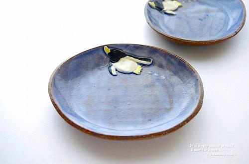 s-ぺんぎん楕円皿