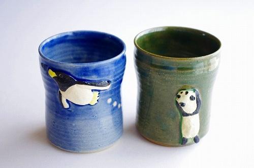 s-フリーカップ パンダ・ペンギン
