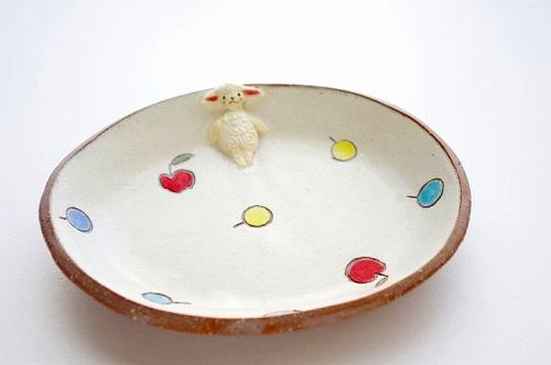 s-羊楕円皿