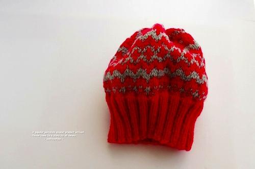 s-編み込み模様の帽子
