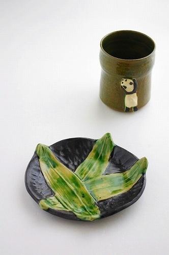 s-つるかま笹皿 パンダーフリーカップ