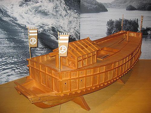 村上水軍の安宅船模型