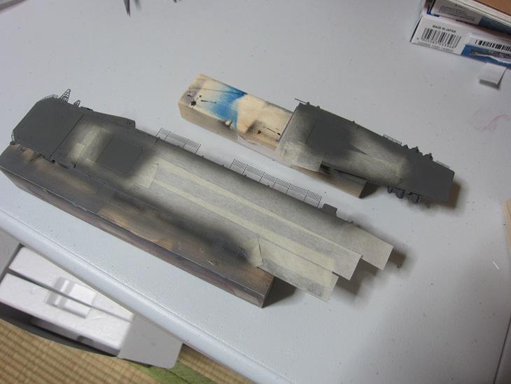 飛鷹飛行甲板塗装
