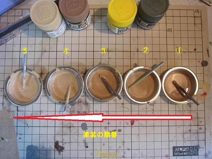 飛行甲板色塗装の順番